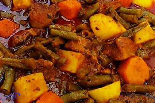 دستور پخت خوراک لوبیا سبز